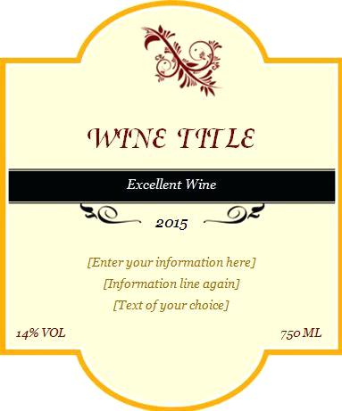 383x461 Wine Label Template Vector Labels Free Cteam.co