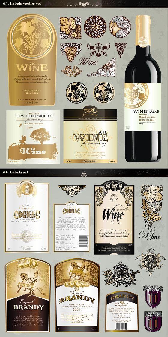 560x1118 Wine Labels Vector Art Downloads Freebies Vector