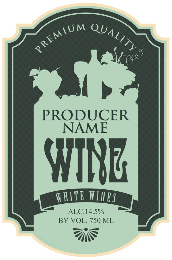 600x909 Wine Menu List Template Vector Material 08 Free Download