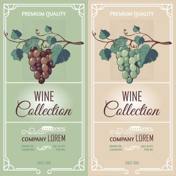 600x600 Wine Label Designs Free Psd, Vector Ai, Eps Format Download