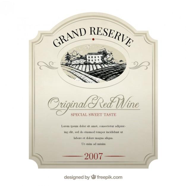 626x626 Elegant Wine Label Vector Free Download