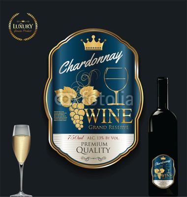 380x400 Luxury Golden Wine Label Vector Illustration Buy Photos Ap