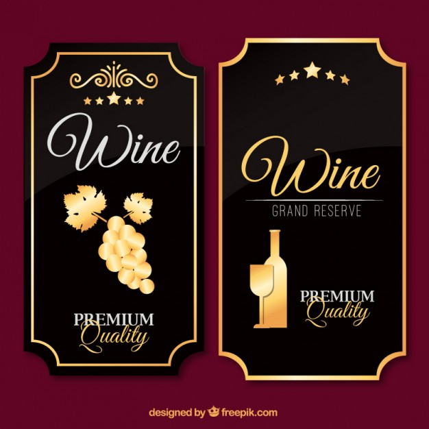 626x626 Luxury Wine Labels In Vintage Design Vector Free Download