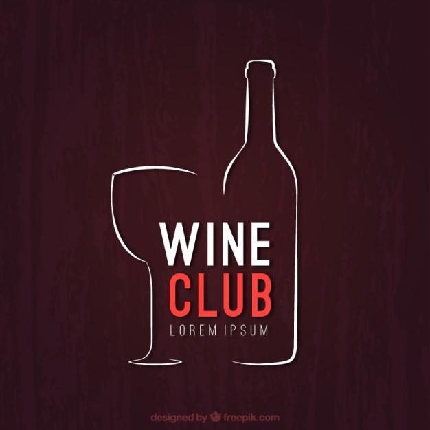 626x626 Sketchy Wine Club Logo Vector Free Download