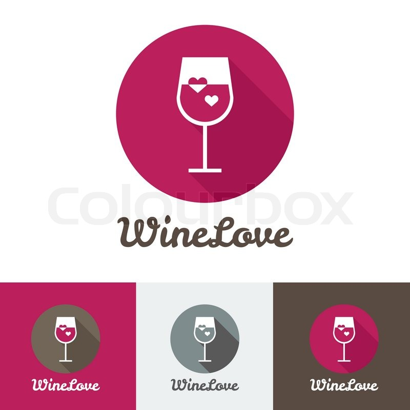 800x800 Vector Modern Flat Wine Shop, Restaurant Or Bar Logo Set Stock