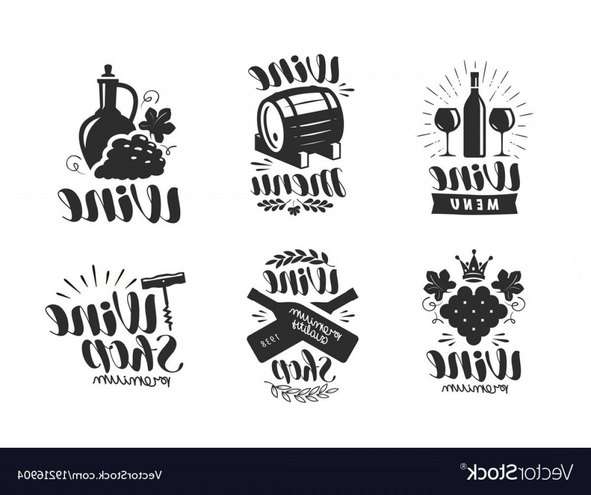 1200x1005 Wine Logo Or Label Winery Drink Symbol Vector Createmepink