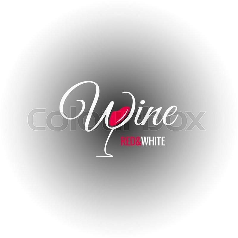 800x800 Wine Glass Logo Design Background 8 Eps Stock Vector Colourbox