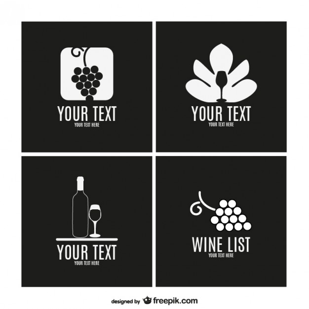 626x626 Wine Logos Collection Vector Free Download