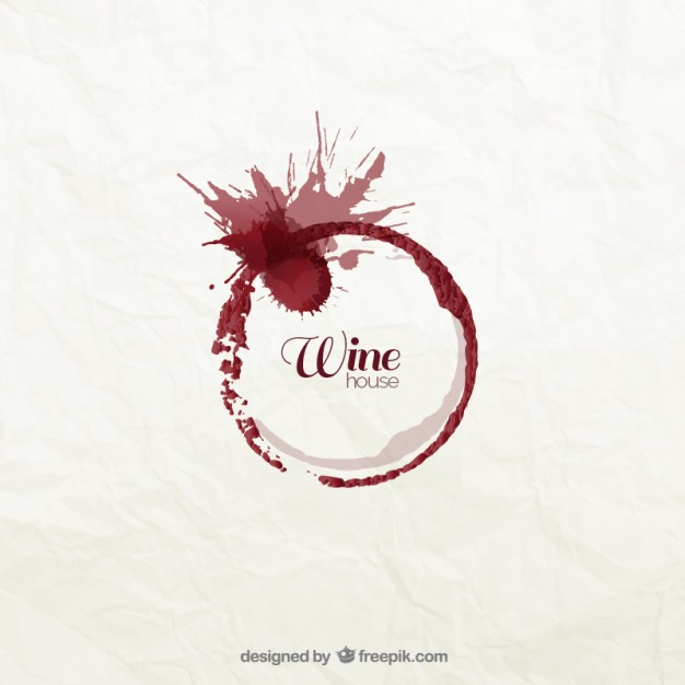 626x626 Wine Stain Logo Vector Free Download