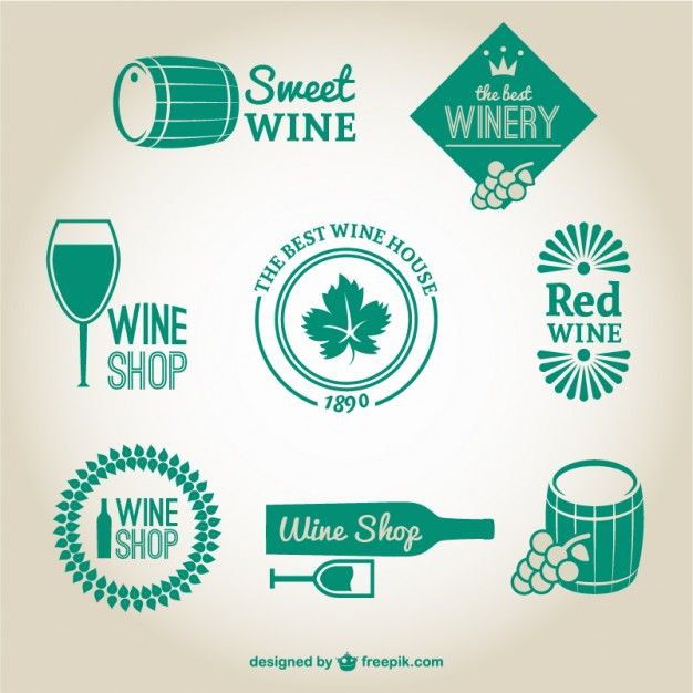 626x626 Winery And Wine Shop Logos Vector Free Download