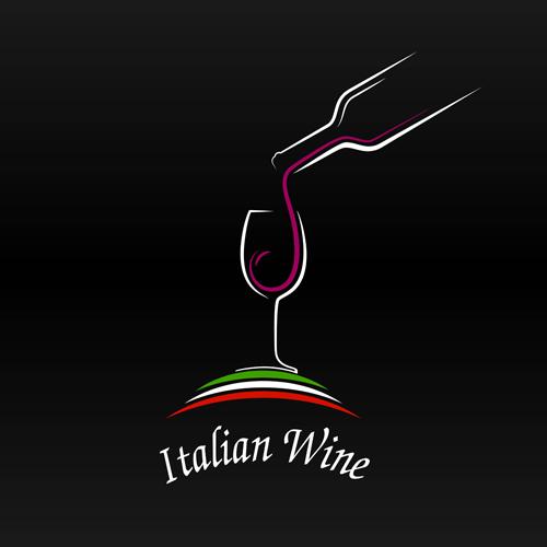 500x500 Elegant Wine Logo Vector Material Free Download