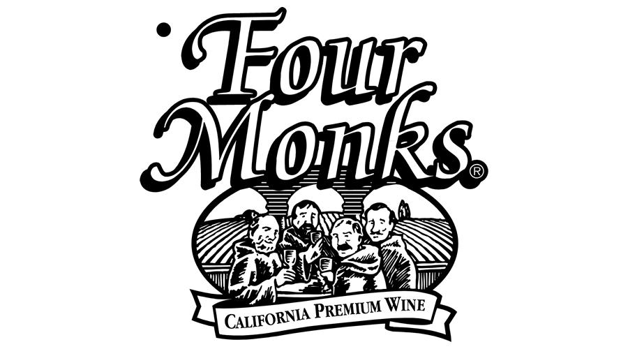 900x500 Four Monks California Premium Wine Logo Vector