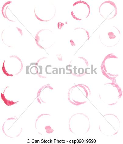 404x470 20 Wine Stain, Isolated On White Background, Vector Illustration.