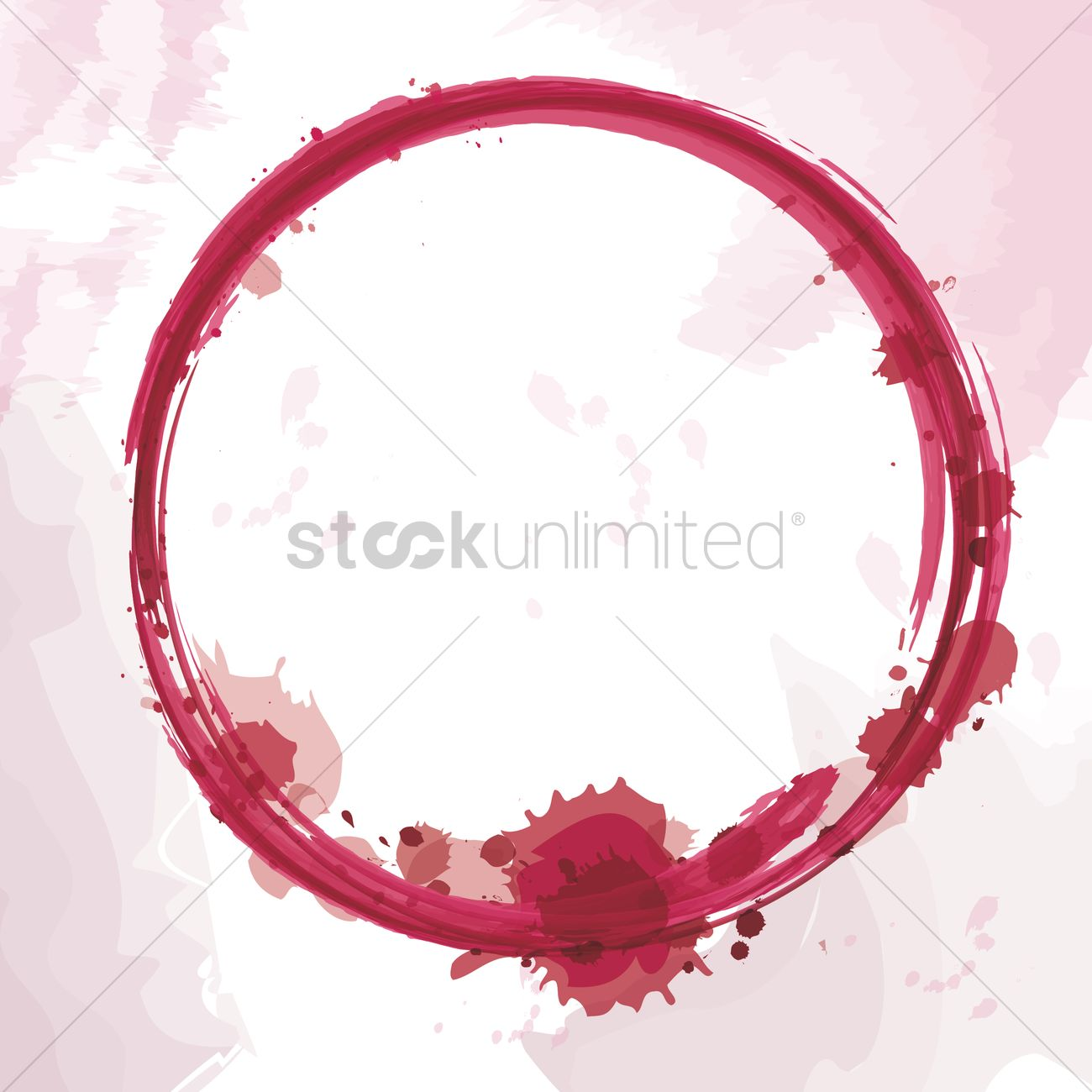 1300x1300 Wine Stain Vector Image