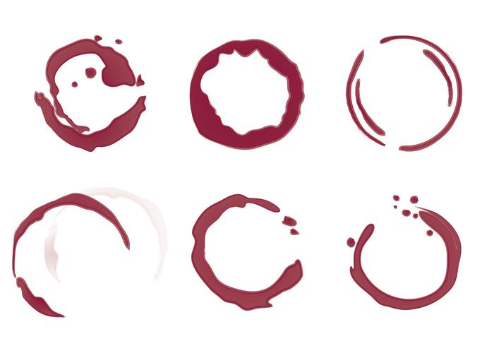 700x490 Free Wine Stain Vector Illustration