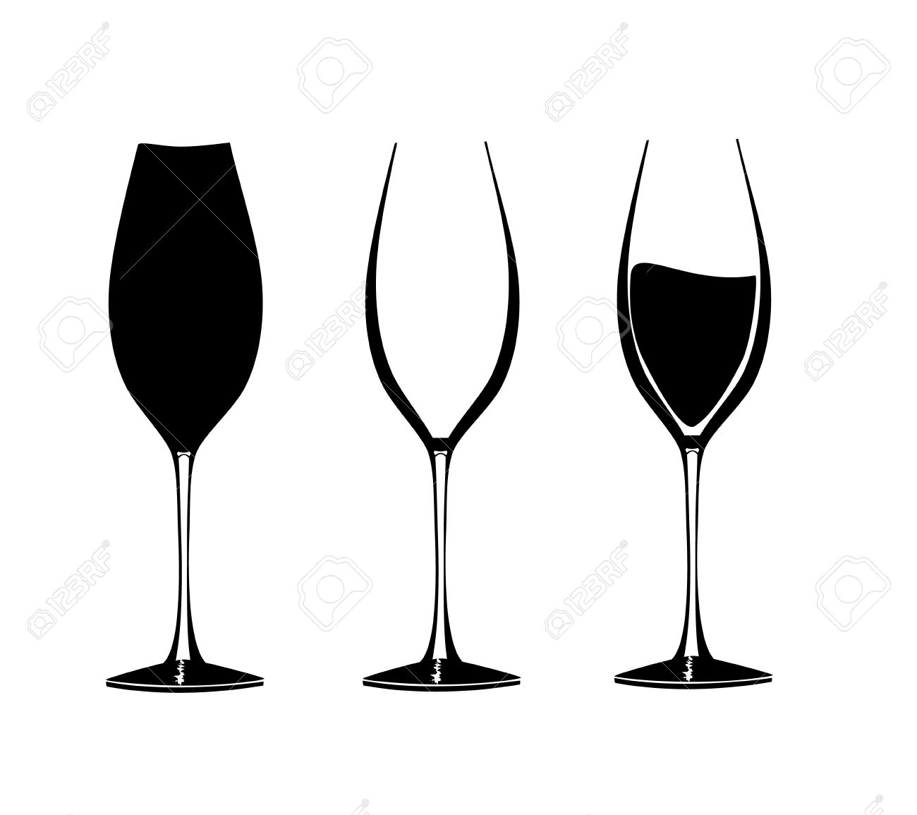 1300x1155 Quotes About Wine On Wine Glass Silhouette Calligraphy... Vectors