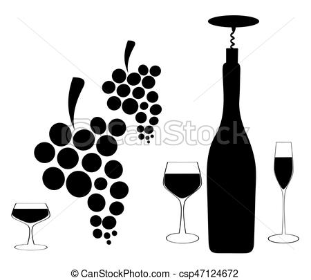 450x405 Design For Wine Vector. Spill The Wine.a Bunch Of Grapes. Red Wine
