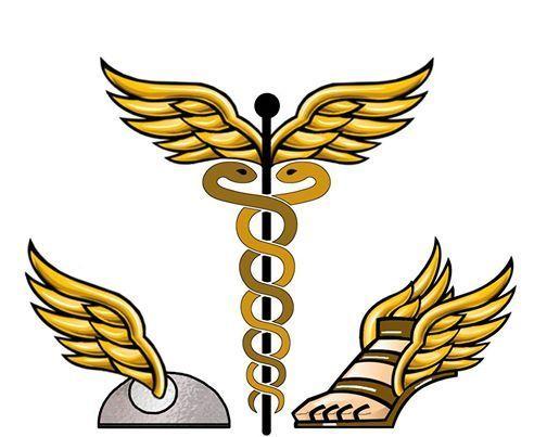 492x403 Mythology Clipart Winged Foot