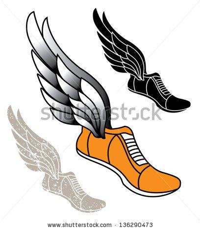 408x470 Track Shoes Design Vector