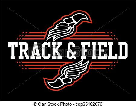 450x354 Track And Field Team Design With Winged Foot For School, College