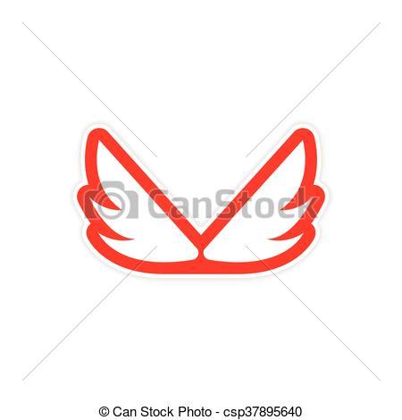 450x470 Sticker Eagle Wings Logo Eps Vector