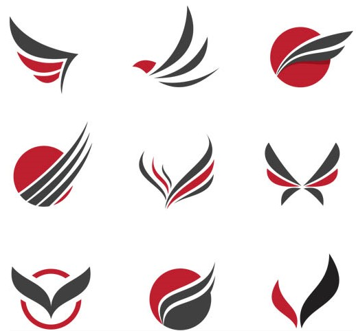 518x482 Stylish Wings Logo Art Ai Format Free Vector Download