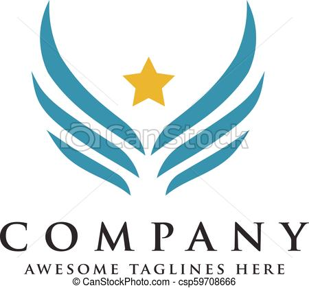 450x420 Vector Star Wings Logo, Wing Logo Company, Icon Wing Flying, Eagle