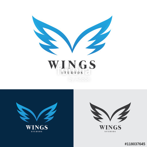 500x500 Wings Logo, Eagle Wing Logo,bird Symbol,freedom Logo, Sport Logo