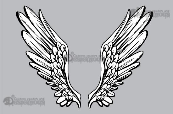 550x363 Wings Vector Pack 5 Vector Angel Wings Royalty Free Vector Wings
