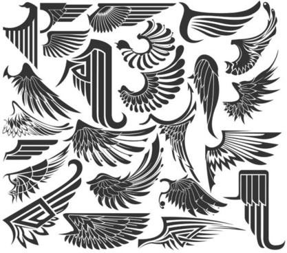 417x368 Wings Free Vector Download (1,009 Free Vector) For Commercial Use