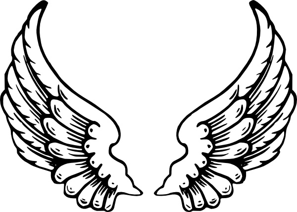 600x428 Angel Wings Clip Art Free Vector In Open Office Drawing Svg ( .svg