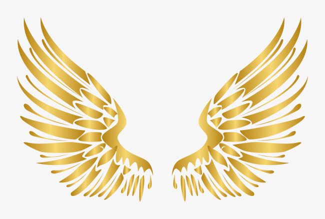 650x438 European Style Luxury Golden Wings Vector Elements, Vector, Golden