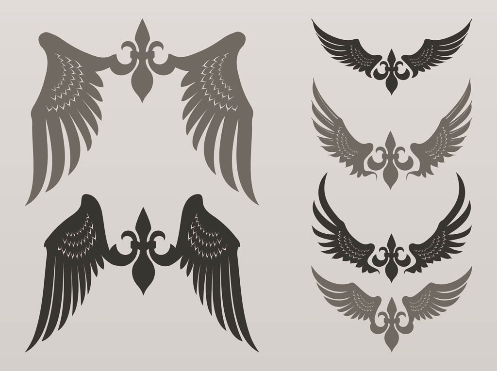 1024x765 Heraldic Vector Wings Vector Art Amp Graphics
