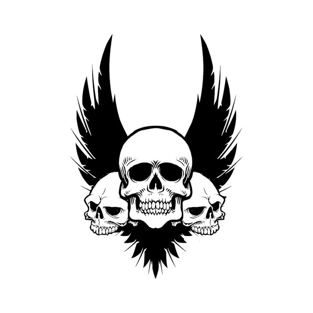 642x642 Skull Wings Svg Cut Files For Silhouette Cricut Designs Vector Etsy