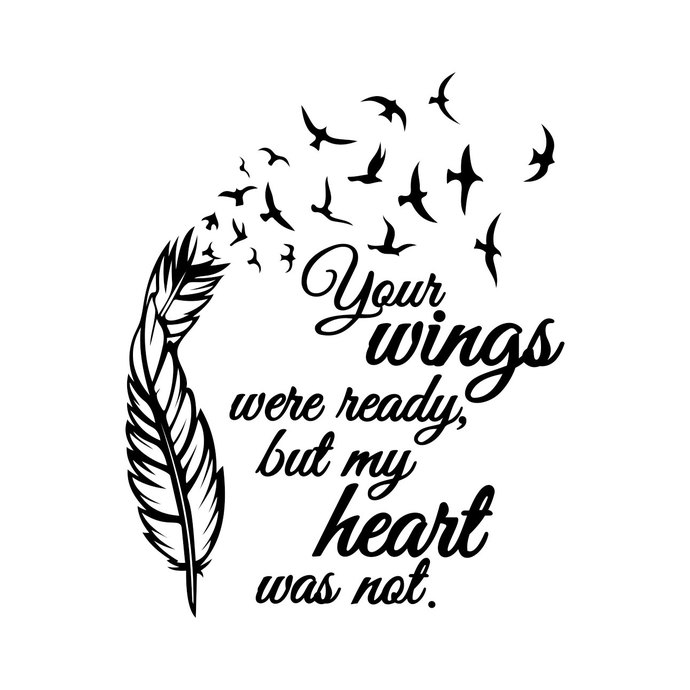 690x690 Wings Were Ready But My Heart Graphics Design By Vectordesign