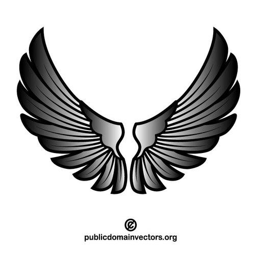 500x500 Wings Vector Art Public Domain Vectors