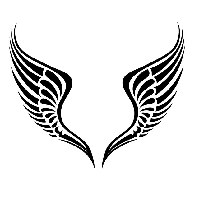 640x640 Free Vectors Black Amp White Tribal Wings Vector Pack