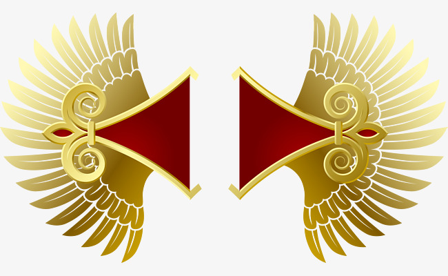 650x400 Vector Hand Painted Gold Wings, Vector, Hand Painted, Gold Png And
