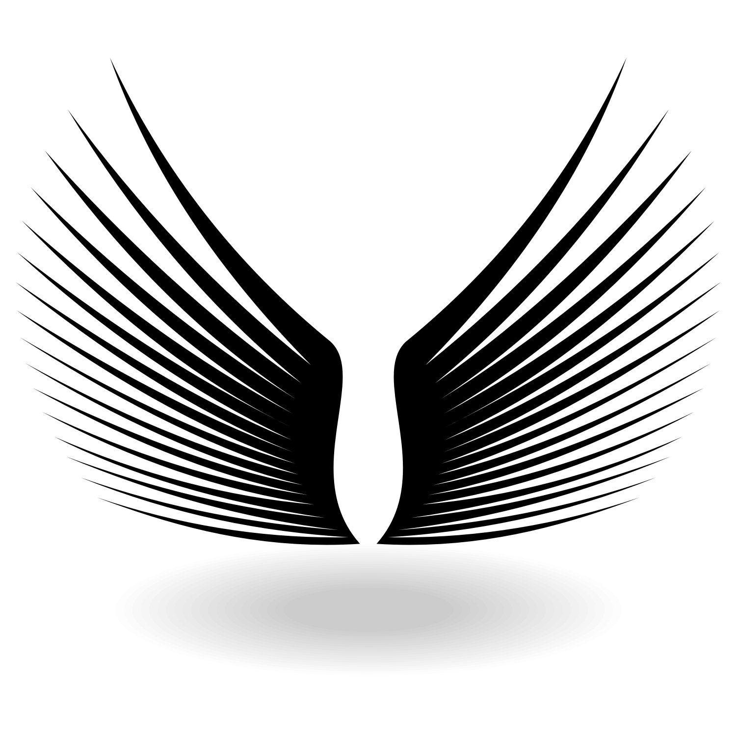 1500x1500 Vector For Free Use Silhouette Black Wings