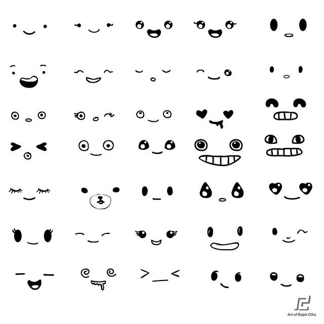 640x640 Free Eyes And Mouth Vector Pack