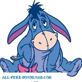 330x329 Eeyore The Pooh Vectors Free Vector Download (167 Free Vector) For