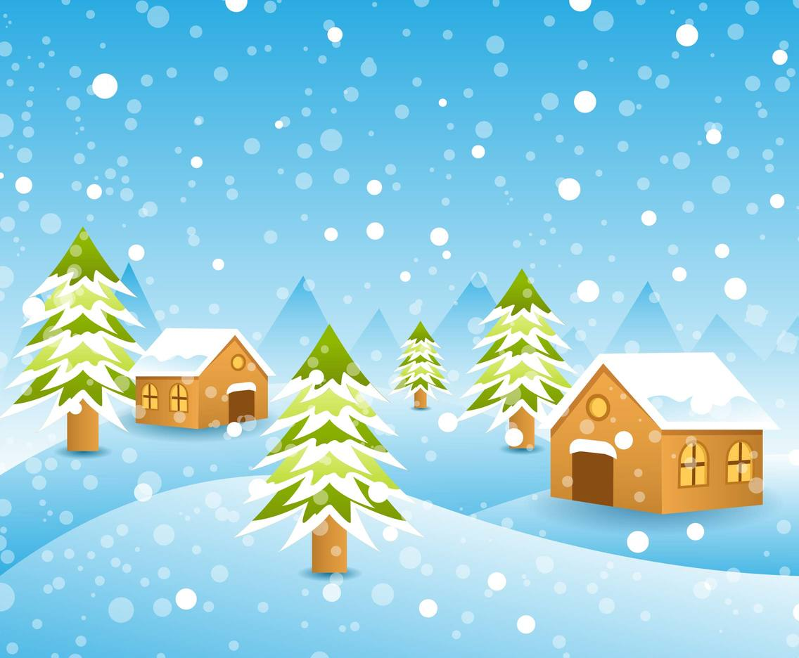 1136x936 Free Winter Landscape Background Vector Vector Art Amp Graphics