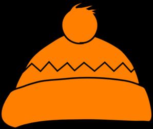 298x252 Orange Winter Hat Clip Art