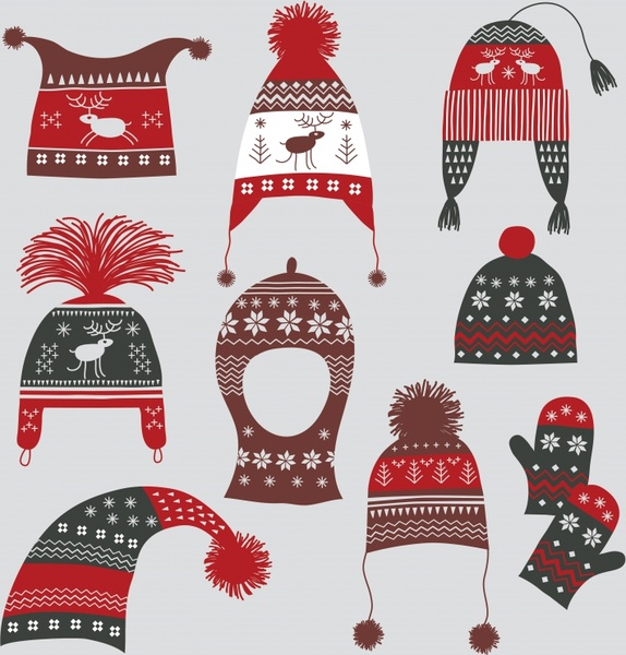 574x600 Vector Winter Hat Gloves Free Vector In Encapsulated Postscript