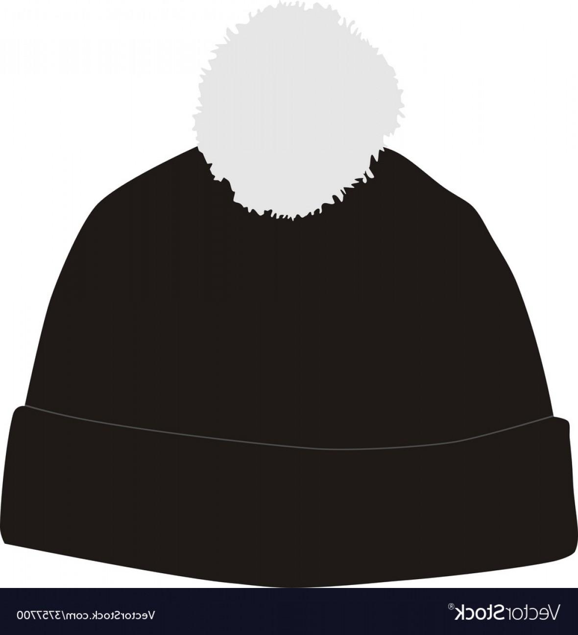 1180x1296 Black Winter Hat With Pompom Vector Geekchicpro