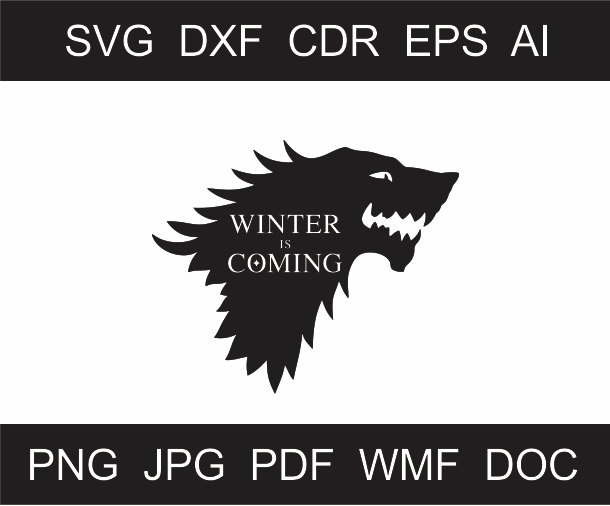 610x506 Winter Is Coming Clipart Scalable Printable Clipart Iron Etsy