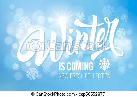 450x319 Unusual Calligraphic Inscription Winter Is Coming With Snowflakes