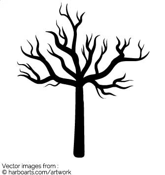 335x355 Download Silhouette Of Dead Tree
