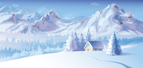 500x237 2014 Winter Vector Background 02 Free Download