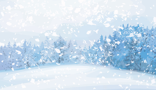 500x290 Free Vector Winter Landscape Free Vector Download (2,855 Free
